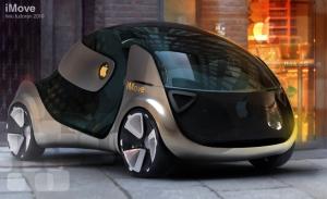 Projeção do iMove, carro da Apple