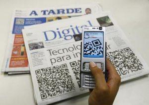 QR Code no Jornal A Tarde.