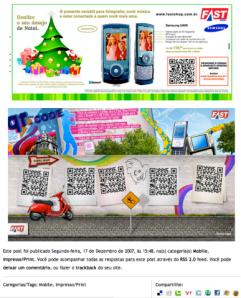 Anúncio QR Code Fast Shop