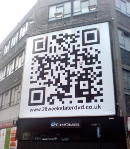 QR Code em fachada de loja